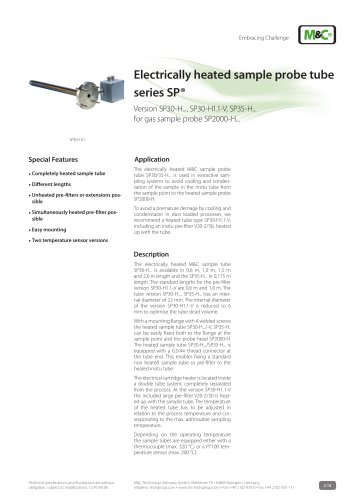 Electrically heated sample probe tube series SP®