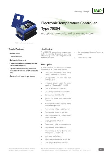 Electronic Temperature Controller Type 70304