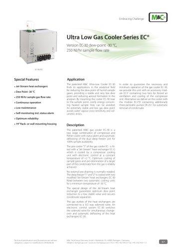 Ultra Low Gas Cooler Series EC®