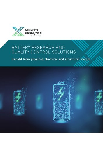 Battery Research and QC Solutions - Benefit from physical, chemical and structural insight