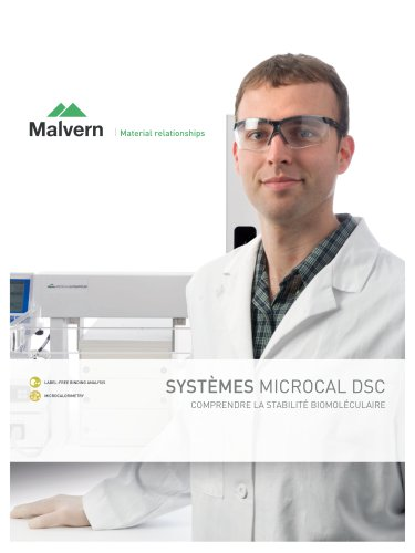 Malvern MicroCal Differential Scanning Calorimetry (DSC) Systems