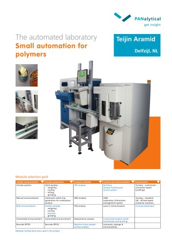 Small automation for polymers – Teijin Aramid