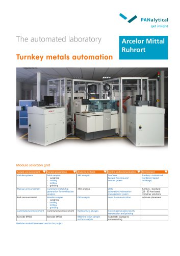 Turnkey Metals Automation - Arcelor Mittal