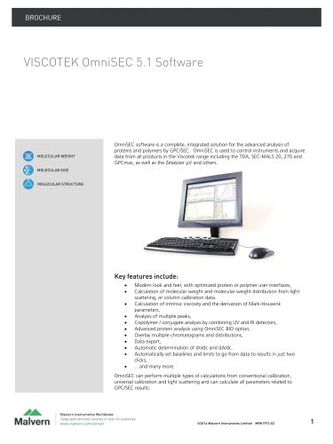 VISCOTEK OmniSEC 5.1 Software