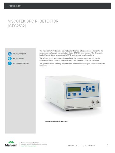 Viscotek RI Detector (VE3580)