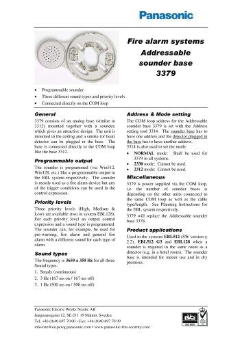 Addressable sounder base 3379