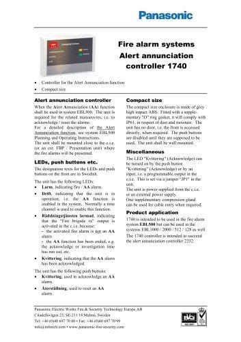 Alert annunciation controller 1740
