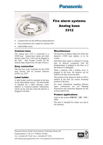 Analog base 3312