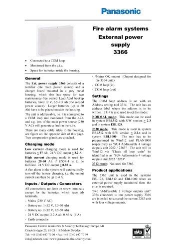 External power supply 3366