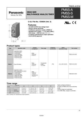 PM5S - analog DIN-rail timer