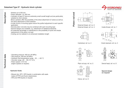 Type 57 · Hydraulic block cylinder