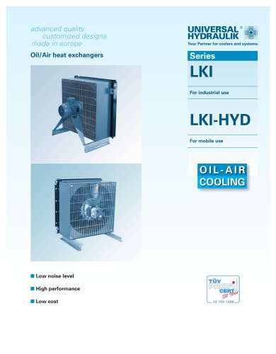 LK-series (oil-air coolers) industrial or mobile