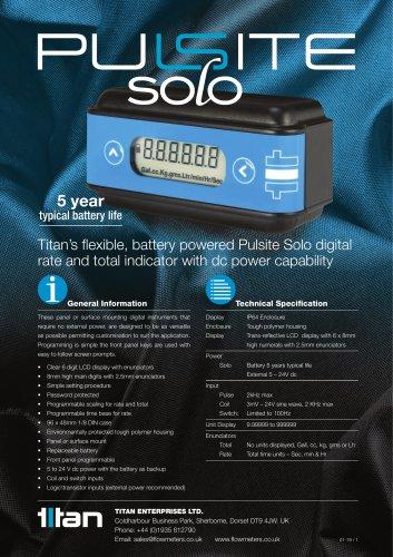 Pulsite Solo Rate & Totaliser Flow Meter