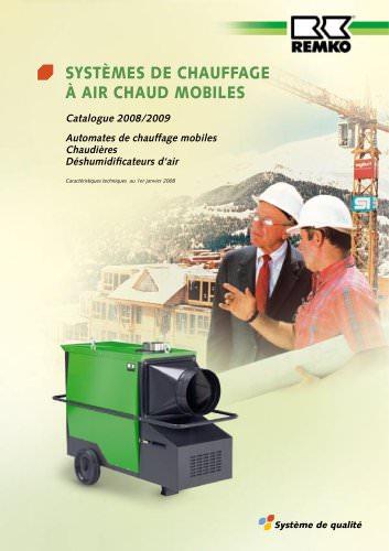 Systèmes de chauffage à air chaud mobiles 2008-2009