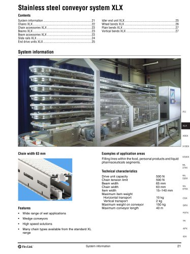 Conveyor system XLX