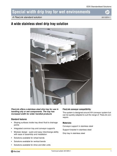 A wide stainless steel drip tray solution