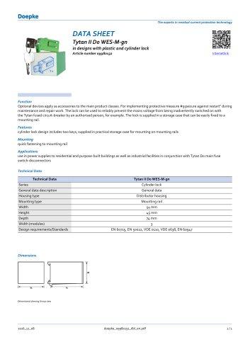 09980132 Restart locking facilities Tytan II D0 WES-M-gn