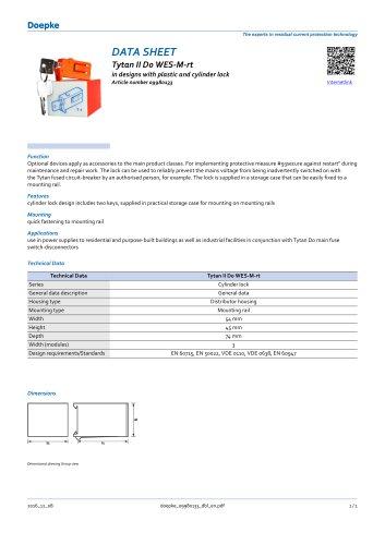09980133 Restart locking facilities Tytan II D0 WES-M-rt