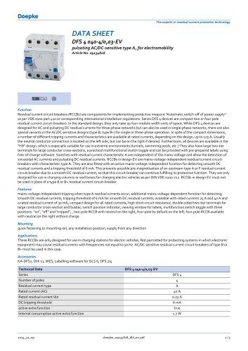 DFS 4 040-4/0,03-EV pulsating AC/DC-sensitive type A, for electromobility