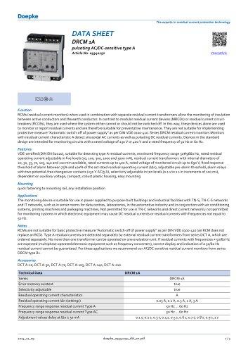 DRCM 1A pulsating AC/DC-sensitive type A