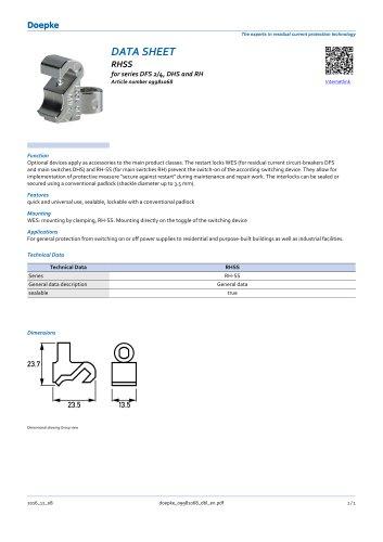 Restart locking facilities RHSS