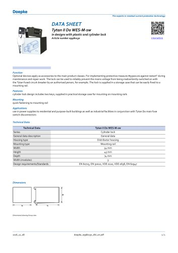 Restart locking facilities Tytan II D0 WES-M-sw