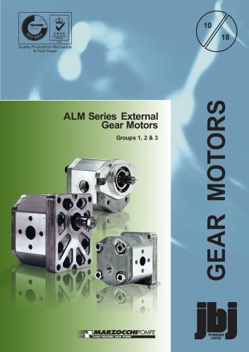 ALM series external gear motors Group 1, 2 and 3
