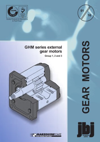 GHM series external gear motors Group 1, 2 and 3