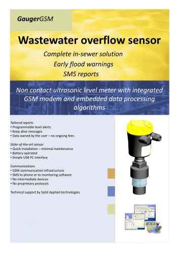 Wireless Sewer Monitoring with GaugerGSM