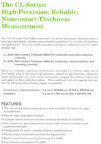 Non-Contact Thickness Meter
