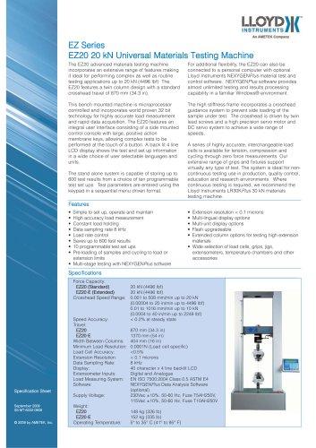 EZ20 Materials Testing Machine (20 kN)