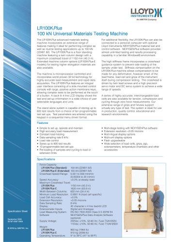 LR100KPlus Materials Testing Machine (100 kN)