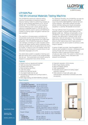 LR150KPlus Materials Testing Machine (150 kN)