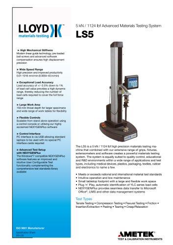 LS5 Materials Testing Machine 5 kN