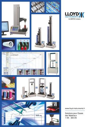 Solutions pour Essais des  Matériaux (1kN - 300kN)