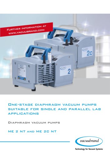 Diaphragm pumps ME 2 NT / ME 2C NT