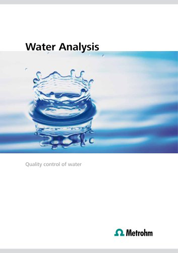 Water Analysis – Quality control of water