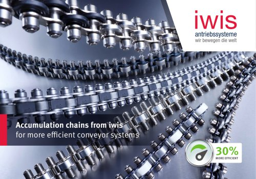Accumulation chains from iwis for more efficient conveyor systems