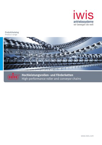 High-performance roller and conveyor chains