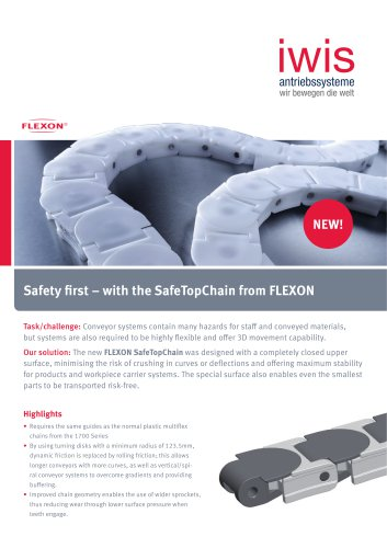 Safety first - with the SafeTopChain from FLEXON
