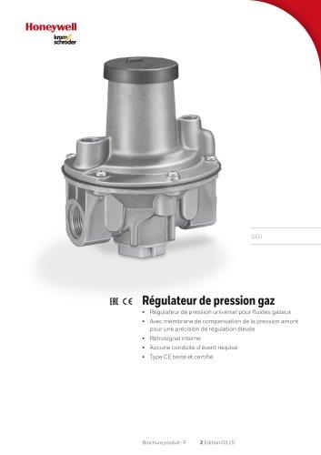 Régulateur de pression de gaz GDJ