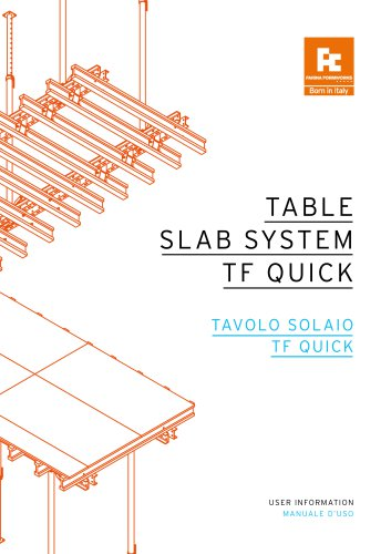 TABLE SLAB SYSTEM QUICK