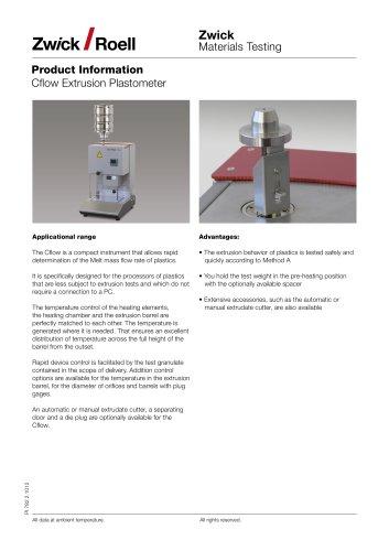 Cflow Extrusion Plastometers