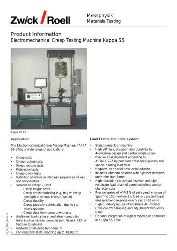 Creep Testing Kappa SS