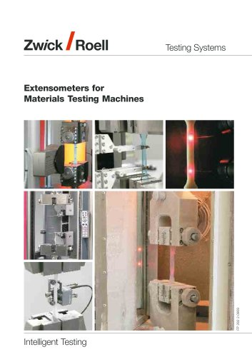 Extensometers for material testing machines