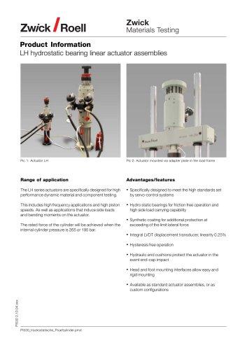 Hydrostatic Testing Actuators