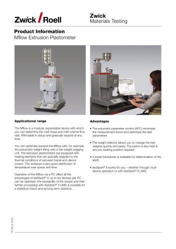 Mflow Extrusion Plastometers