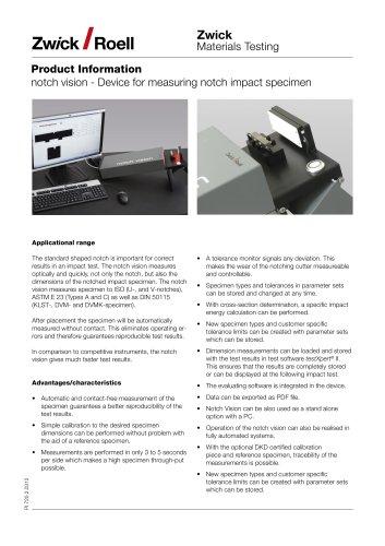notch vision: Device for measuring notch impact specimen
