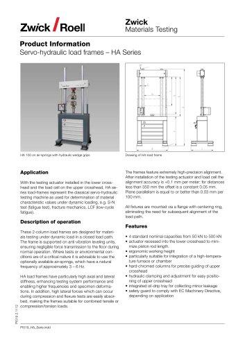 Servo-hydraulic Testing Machines HA-model