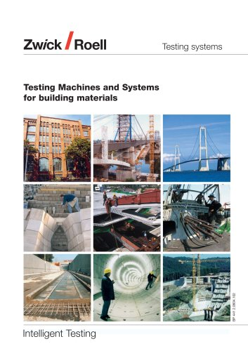 Testing machines and systems for building materials